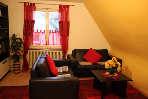 Unsere Ferienwohnung - Teufelsburg - Wohnzimmer